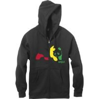 Skateboard Enjoi Rasta Panda Zip Black Medium Hooded Sweatshirt
