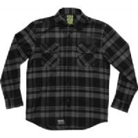 Skateboard Creature Lundegaard Charcoal / Black X-Large Long Sleeve Flannel