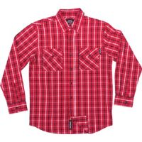 Skateboard Independent Control Red / Navy / White Large Long Sleeve Flannel