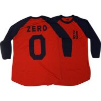 Skateboard Zero Numero Zero Red / Navy X-Large 3/4 Sleeve T-Shirt