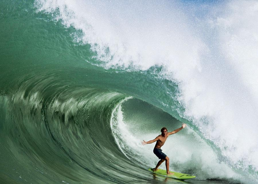 "Surf ""It's a whole different rush."" Koa Smith."