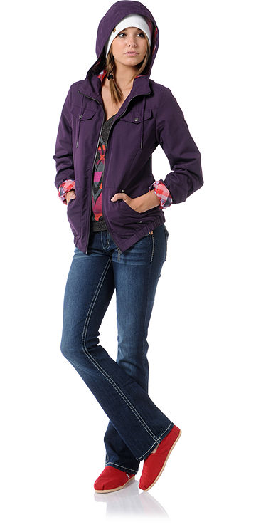 Skateboard Empyre Girl Frisco Blackberry Purple Windbreaker Jacket