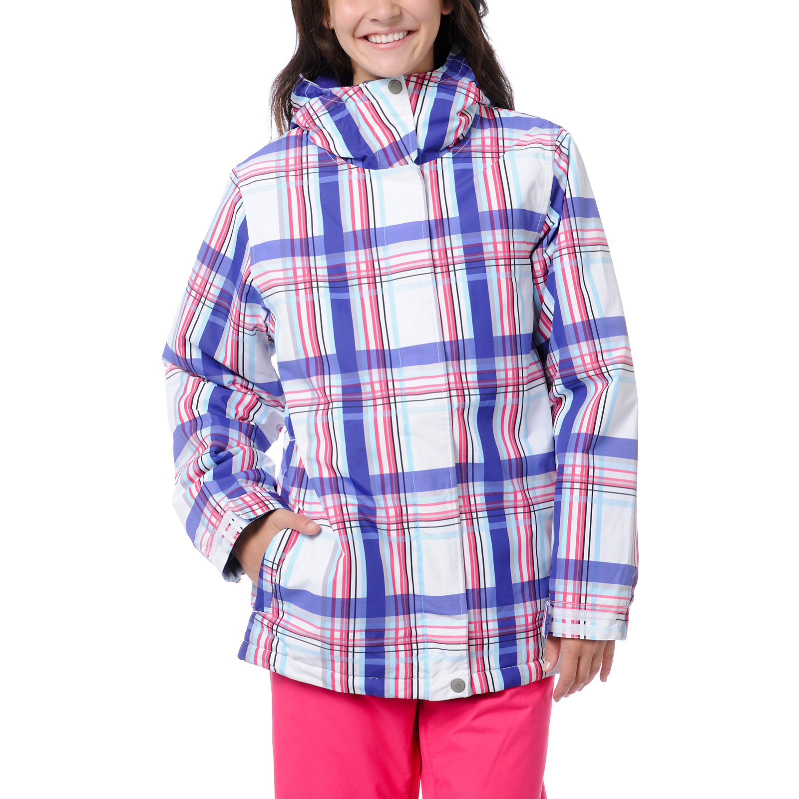 Snowboard Empyre Girls Palisade White & Purple 10K Snowboard Jacket - New 2013