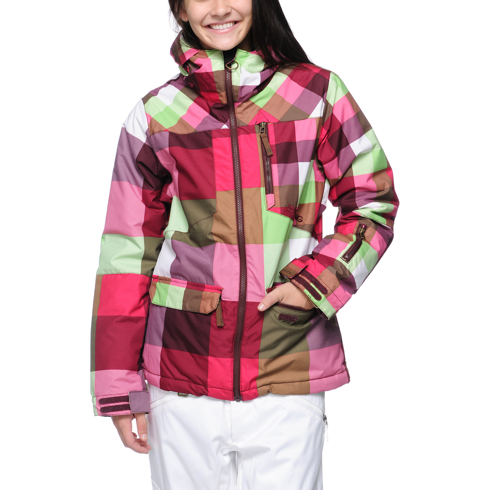 Snowboard Billabong Check Your Booty 10K Girls 2013 Snowboard Jacket