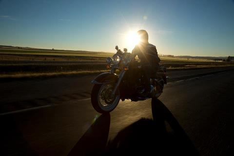 Auto and Cycle Photo of the Day: Softail Sundown. ©Josh Kurpius