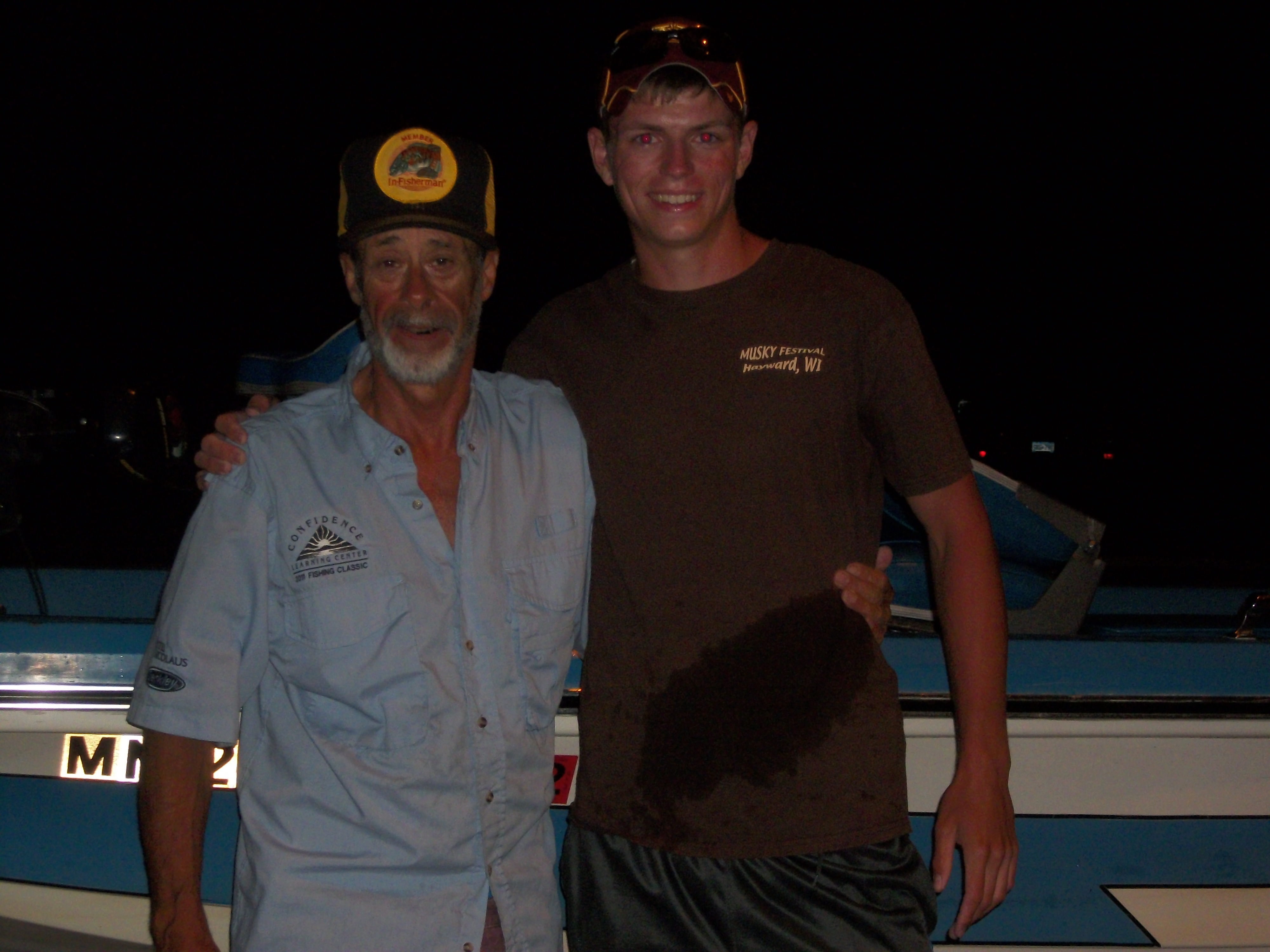 Fishing Me and Coop after 12 hours of fishing. A day I will never forget as I learned more about catching big fish than I could ever dream of. What a great guy!