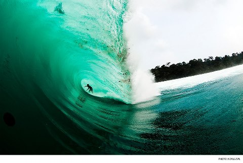 Surf Mikala Jones, Indonesia. Photo: Zak Noyle Photography/SPL