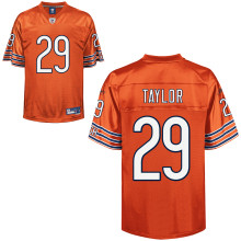 Sports Chicago Bears Chester Taylor Premier EQT #29 Orange Reebok NFL Jersey