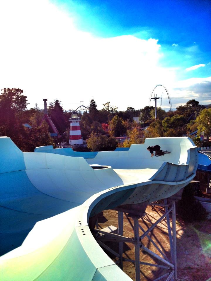 BMX Chad Kerley and the MARKIT BMX crew got permission to ride a waterpark!
