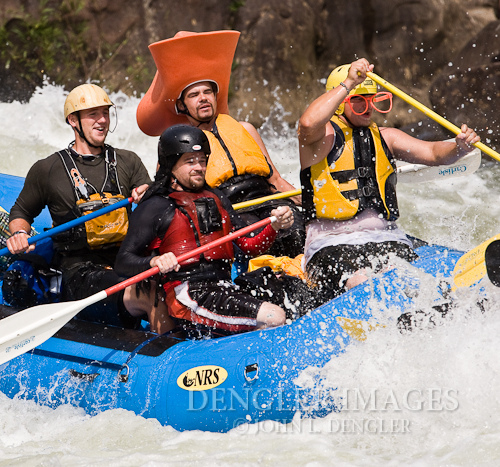 Wake Gauley River whitewater rafters