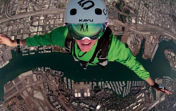Extreme The GoPro Hero 3 camera, which was unveiled last week, records images during a skydiving trip.