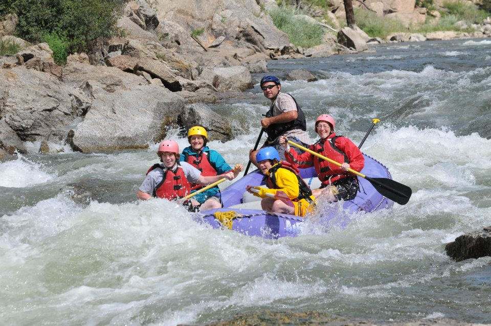 Wake rafting the Colorado River