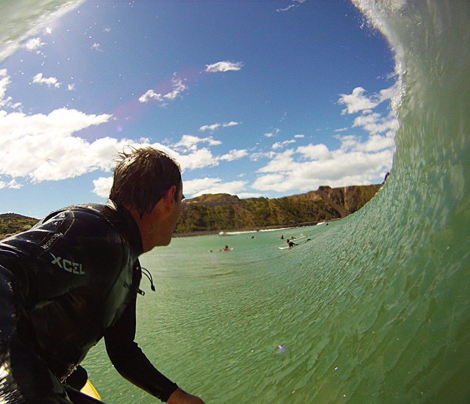 Surf Anthony Young getting barreled...