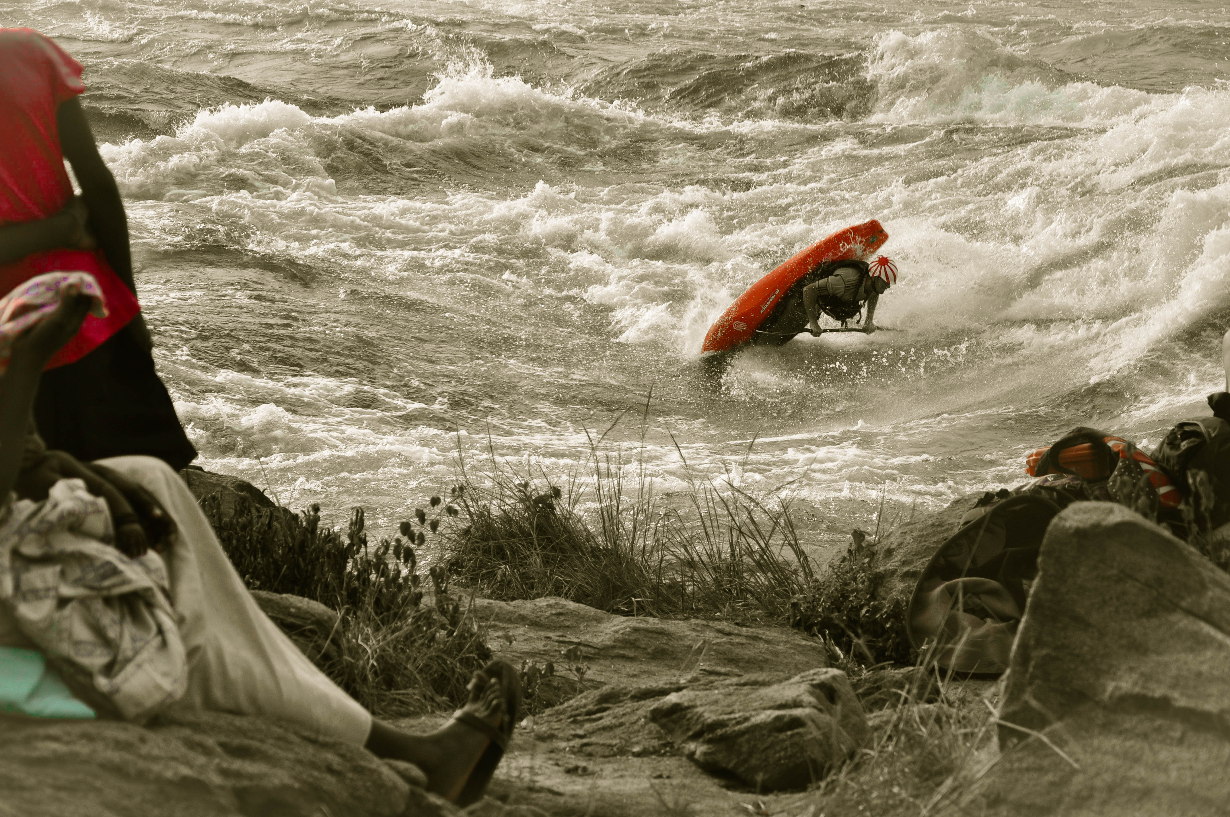 Kayak and Canoe Tino Specht throwing a Pan-Am on the Nile  Special, Uganda