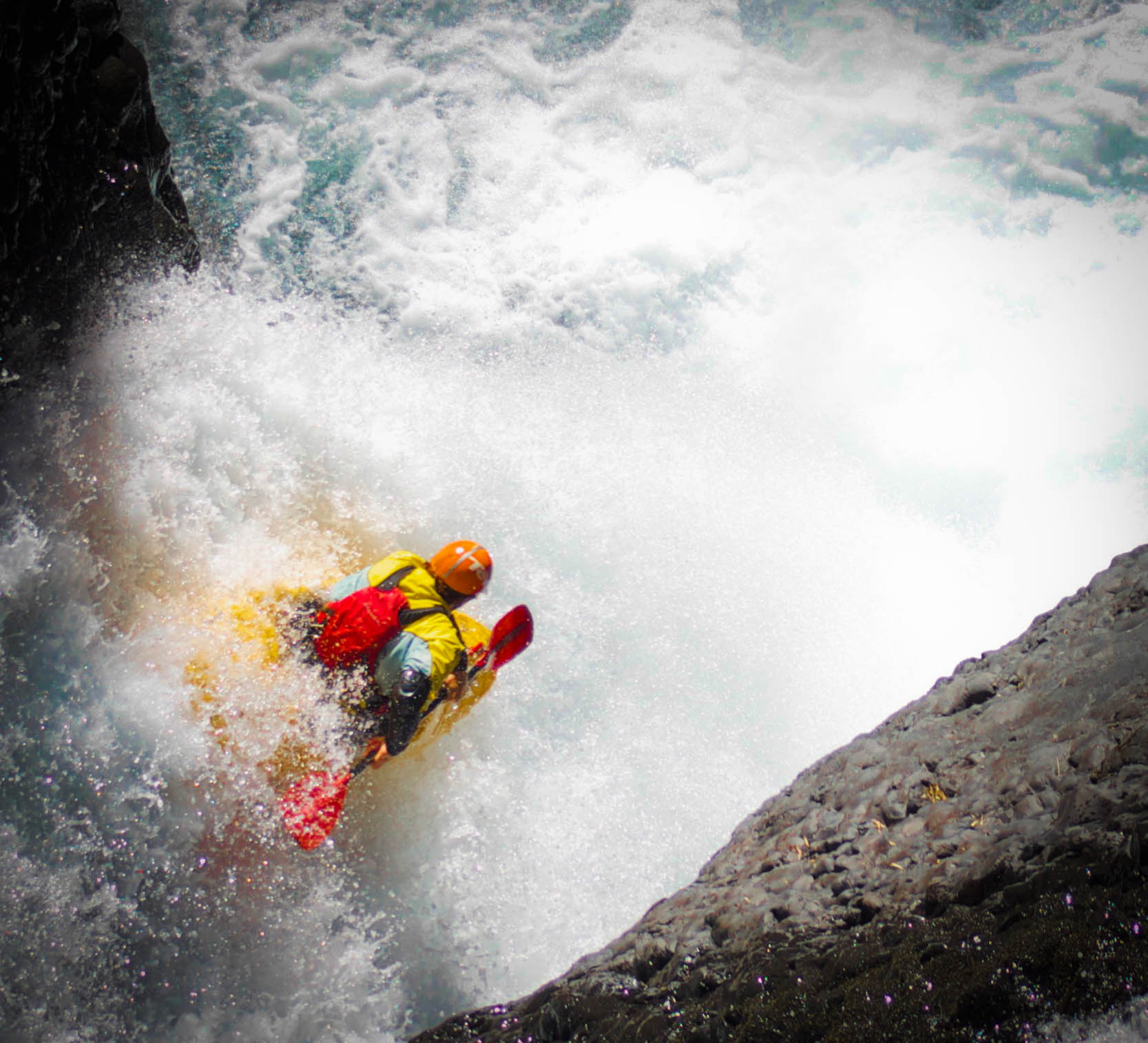 Kayak and Canoe Lorenzo Andrade-Astorga on Garganta del Diablo, Chile