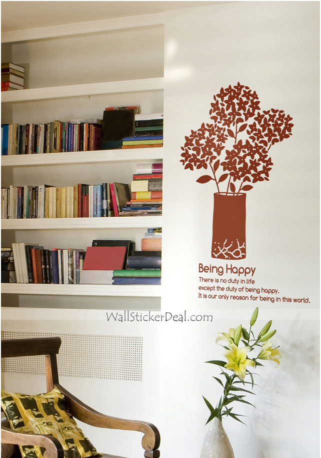Being Happy Fragrance Of Flower Wall Sticker