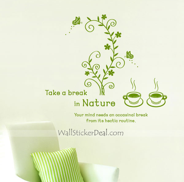 Take A Break In Nature Wall Sticker