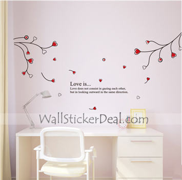 Love Is Looking  Outward In The Same Direction Wall Sticker