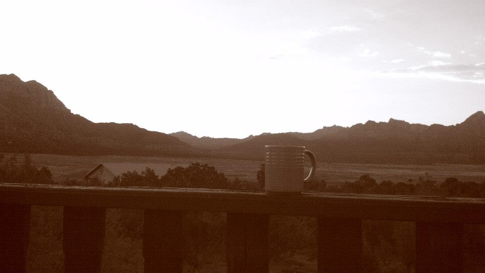 Entertainment Relaxing morning in Utah...watching the sunrise over the mountains while drinking coffee