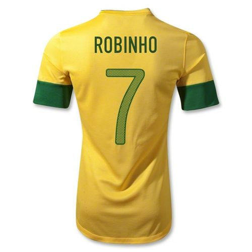 Entertainment ROBINHO Brazil Home Soccer Jersey 2012/2014