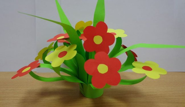 Цветок для мамы на 8 Марта. Мастер-класс