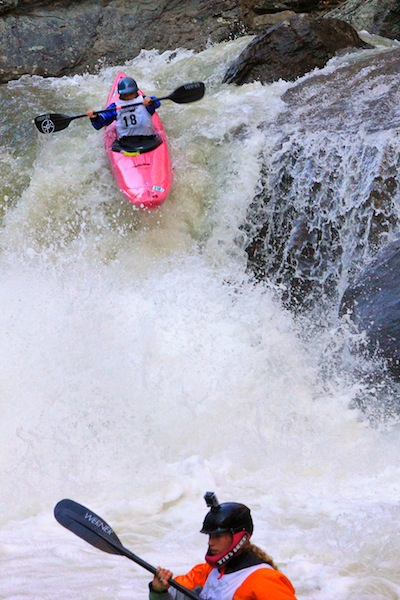 Kayak and Canoe Women's winner Adriene Levknecht at Gorilla in The Green Race