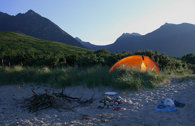 Camp and Hike Base camp Sannox