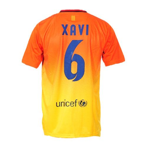 Entertainment Youth XAVI Barcelona Away Soccer Jersey 12/13