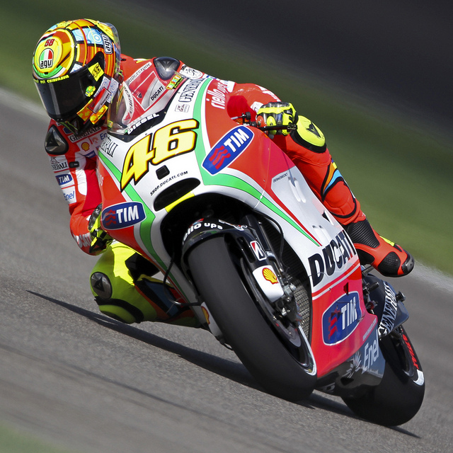 Motorsports Valentino Rossi at the Red Bull Indianapolis Grand Prix (MotoGP); Indianapolis Motor Speedway, August 2012