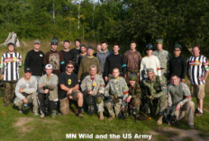 Extreme Group photo MN Wild players at Splat Tag Paintball Park
