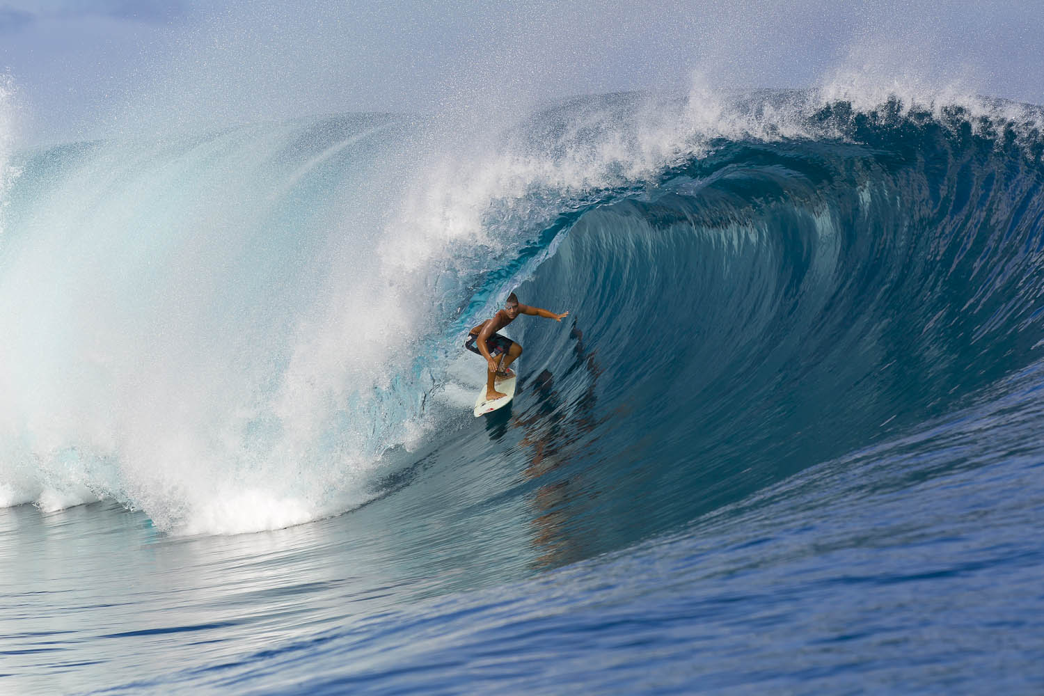 Surf Koa Rothman loves Teahupoo, and is always looking for the big one.