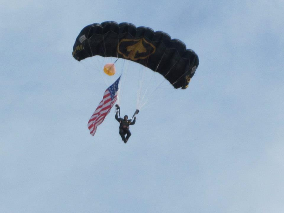 Entertainment Paratrooper, Raymond James Stadium, Tampa, FL