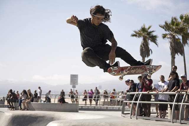 Skateboard Venice Beach. CA