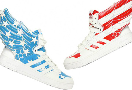 Skateboard adidas Originals x Jeremy Scott Wings 2.0 'Air Force Flag' Sneakers  - High Snobiety