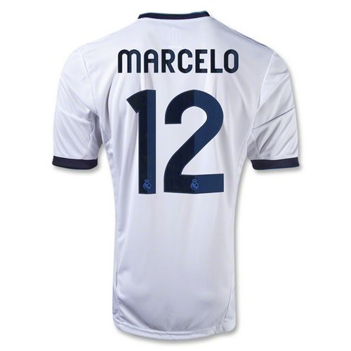 Entertainment Mens MARCELO Real Madrid Home Soccer Jersey 12/13