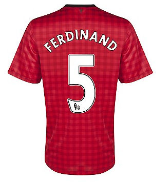 Sports Ferdinand Manchester United Home Soccer Jersey 2012/2013