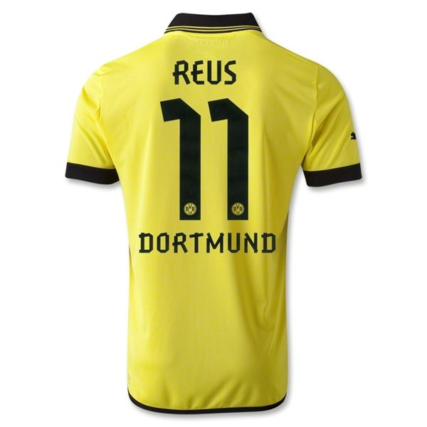 Entertainment Mens REUS Borussia Dortmund Home Soccer Jersey 12/13