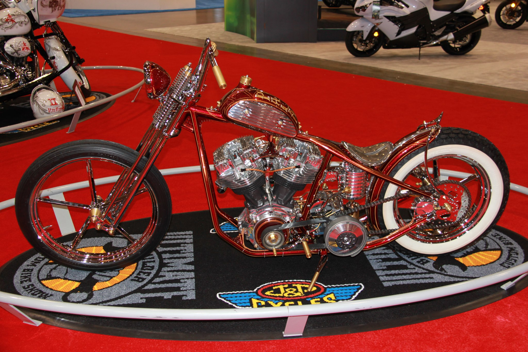 "Auto and Cycle Rick Bray's stunning entry in the Ultimate Builder Custom Bike Show in San Mateo, CA took the win in the Freestyle class. ""Pala Duro,"" (Spanish for Hard Shovel) features a Harley-Davidson 80 inch Shovelhead."