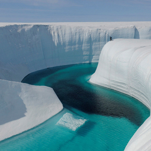Camp and Hike Ice Canyon at Greenland