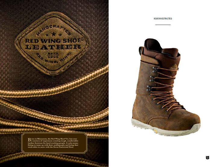 Snowboard Red Wing Rover Restricted Boot: Like Burton, Filson and Red Wing Shoes  are committed to bringing you the best quality products that incorporate timeless fabric and function. For the mans man, we present to you two new collaborations that will have you ta