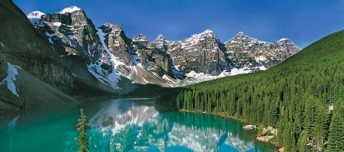 Camp and Hike Moraine Lake, Canada