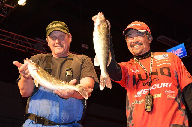 Fishing It's a tough bite at the FLW Championship in the Quad Cities.  Lund Pro Ted Takasaki sits in second place, good luck tomorrow, Ted! (Photo Courtesy of OutdoorsFIRST Media/WalleyeFIRST.com)