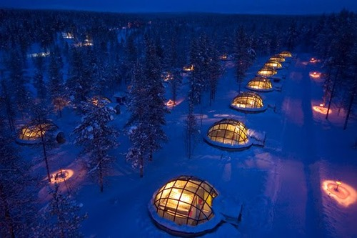 Camp and Hike As cool places to stay and see the Northern lights go, it would be difficult to match the uniqueness and beauty you will find at the Hotel Igloo Village Kakslauttanen in Finland