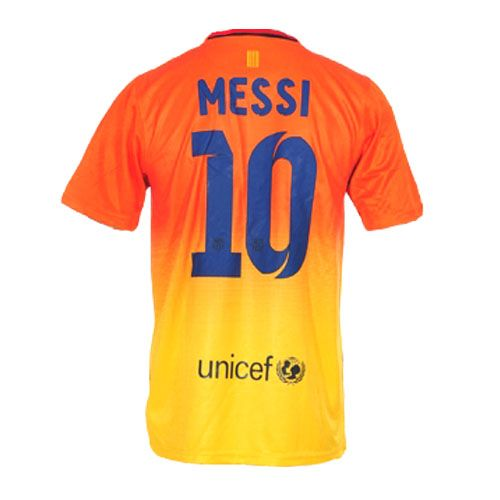Sports Mens MESSI Barcelona Away Soccer Jersey 12/13