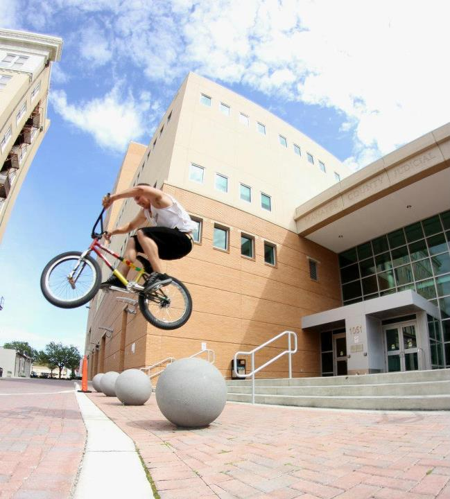 BMX ball gap shot by Kenny Borden