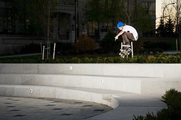 Skateboard Chad Wilson - Switch Front Heel. From our first issue. Photo: James Morley