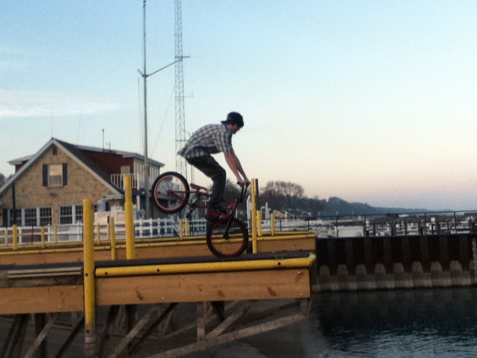 BMX Double Footjam Over the Lake