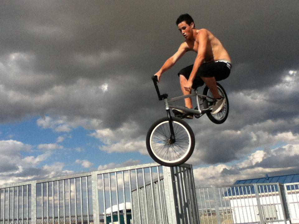 BMX My friend Tres Getting mad air with his T-boggins