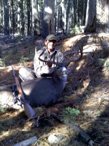 Hunting This the buck that I shot on this year's hunting trip in October here in California, up in the Sierra's.