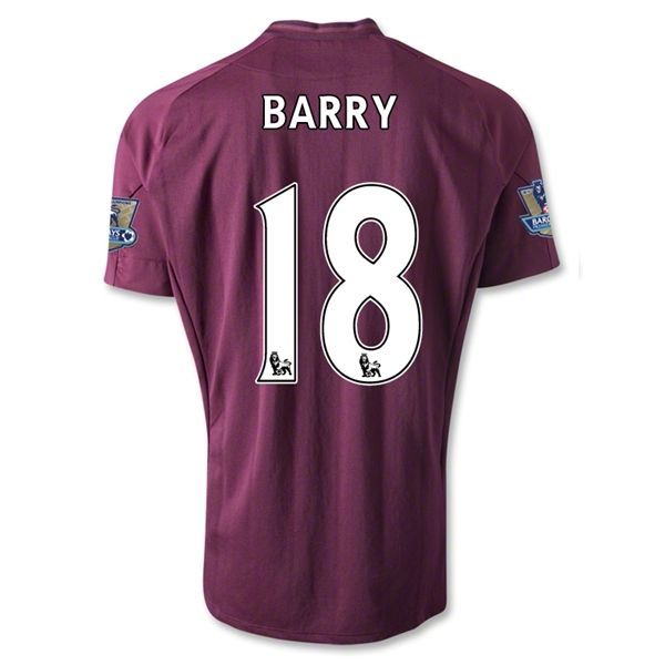 Entertainment BARRY Manchester City Away Soccer Jersey 2012/2013